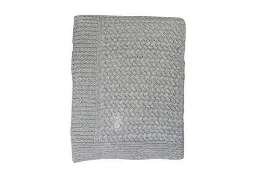 Mies & Co Mies & Co Soft knitted wieg deken Soft Grey