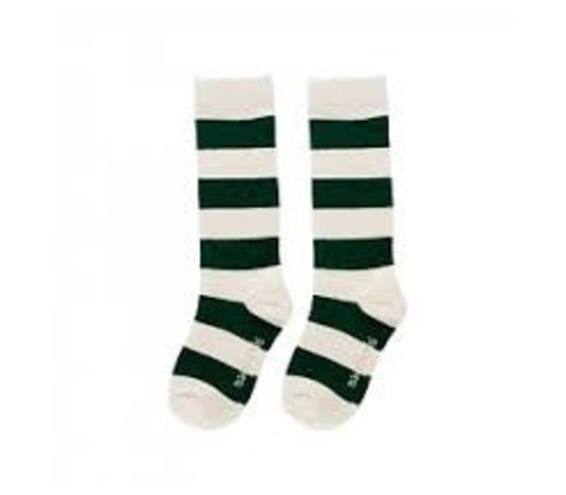 maed for mini striped knee socks green