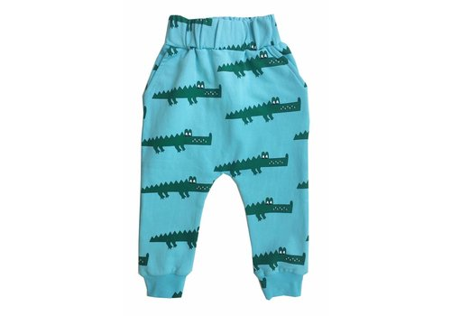 Hugo loves tiki Hugo loves tiki sweatpants crocodile blue