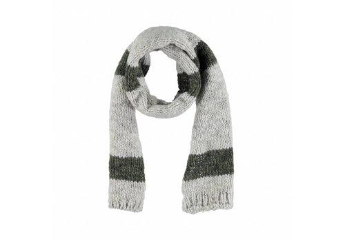 Piupiuchick Piupiuchick knitted scarf grey khaki