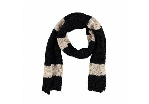Piupiuchick Piupiuchick  knitted scarf ecru black