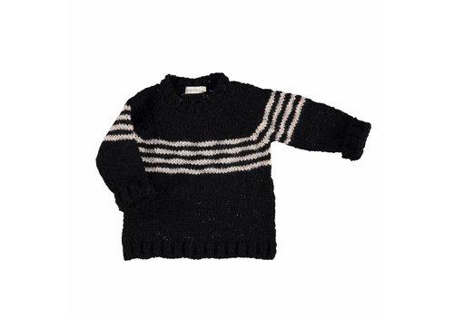 Piupiuchick Piupiuchick  knit sweater black ecru