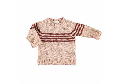 Piupiuchick Piupiuchick  knit sweater pink brick stripe