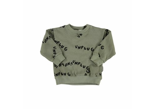 Piupiuchick Piupiuchick  sweatshirt unplug allover khaki