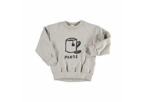 Piupiuchick Piupiuchick  sweatshirt pause print grey