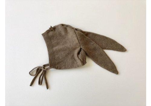 Tocoto vintage Tocoto vintage rabbit ears bonnet tann