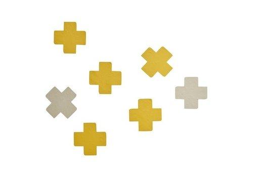 Bibelotte Bibelotte muurstickers cross oker geel