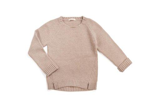 Phil & Phae Phil & Phae Woolmix knit sweater oatmeal melange