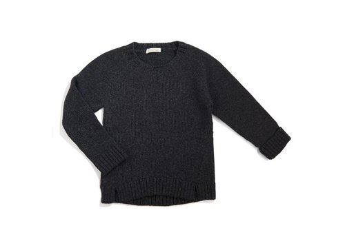 Phil & Phae Phil & Phae Woolmix knit sweater charcoal melange