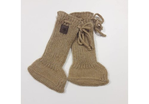 Tocoto vintage Tocoto vintage baby knitted socks gold yellow