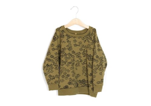 Lotie kids Lotie kids sweatshirt rainprint khaki