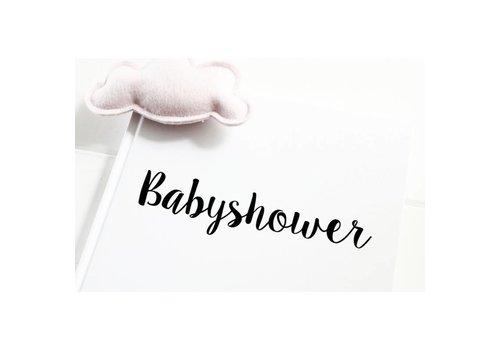 Kidooz Kidooz 'babyshower invulboek zwart/wit'