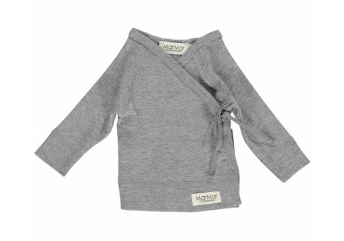 Mar Mar Copenhagen MarMar top wrap grey melange