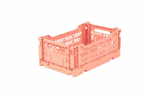 Ay-Kasa Folding crate mini salmon pink