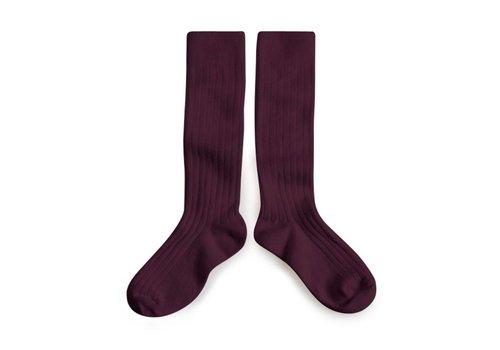 Collegien Collegien knee socks aubergine