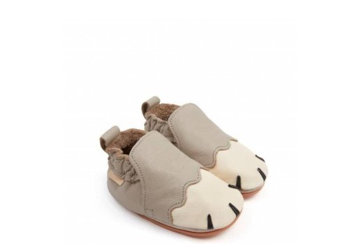 Boumy Boumy Paws pale grey leather