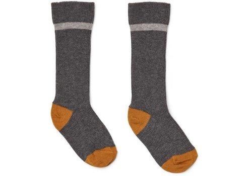 Liewood Liewood mia knee socks (2-pack) grey melange