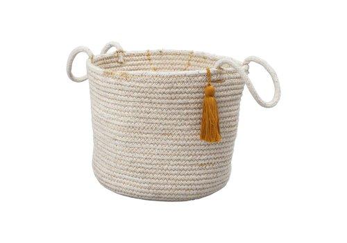 Fabelab rope basket ochre