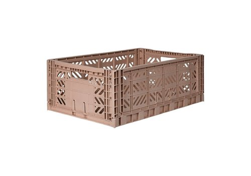 Ay-Kasa Folding crate large warm taupe