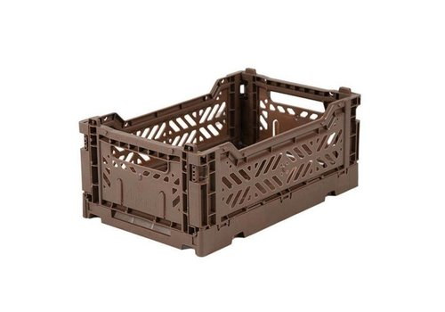 Ay-Kasa Folding crate mini brown