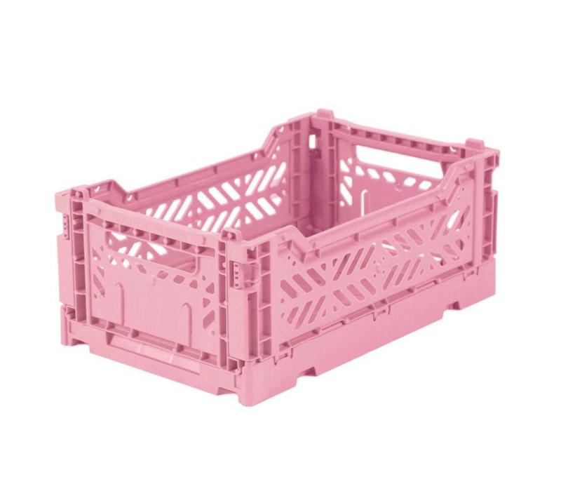 Folding crate mini baby pink