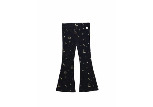 Ammehoela Ammehoela velvet flared legging black gold