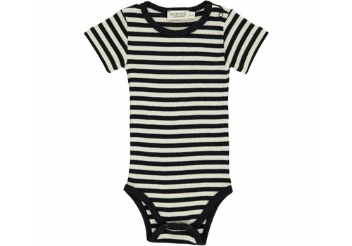 Mar Mar Copenhagen MarMar romper ss stripe black off white