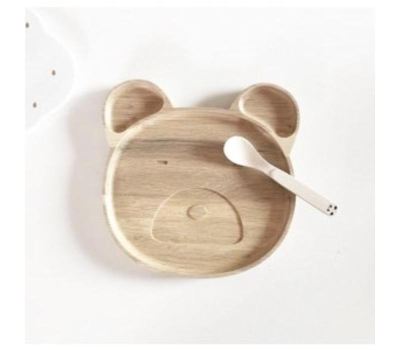 Liewood bordje mr bear natural