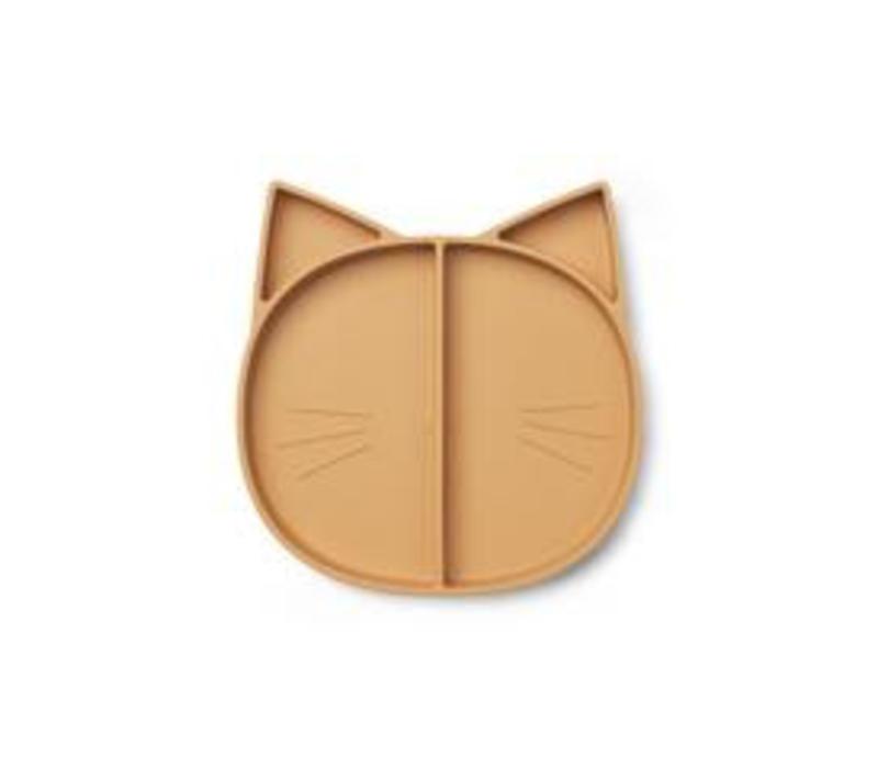 Liewood multi plate cat mustard