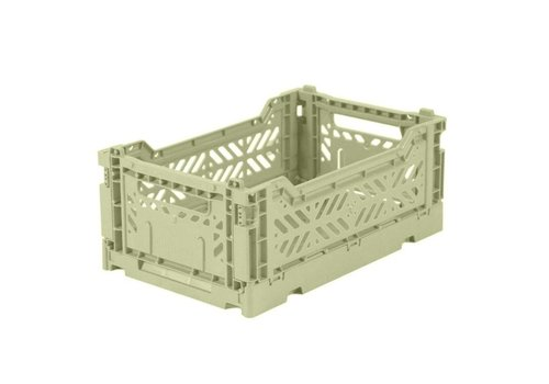 Ay-Kasa Ay-Kasa folding crate mini lime cream