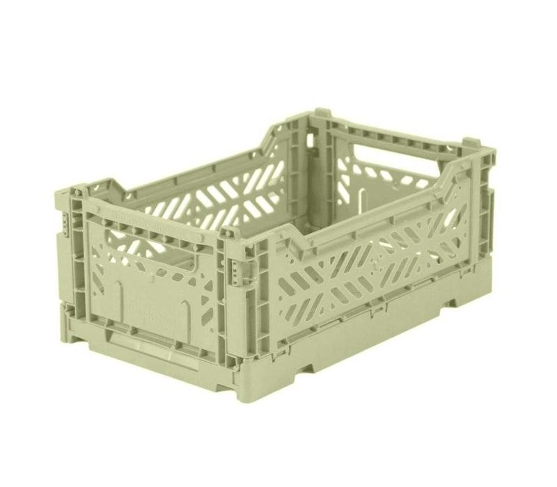Ay-Kasa folding crate mini lime cream