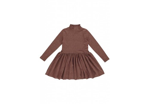 GRO Company Gro Company dress jersey cecilie dark raspberry brown