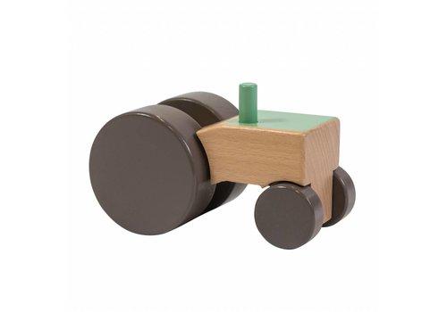 Sebra Sebra houten tractor groen