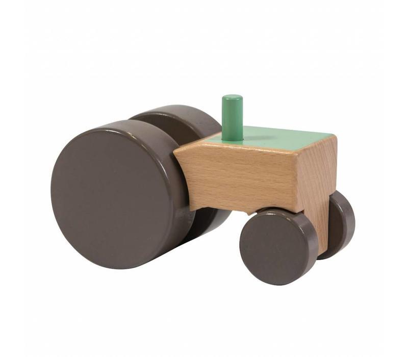 Sebra houten tractor groen