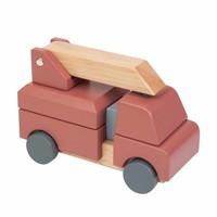 Sebra houten brandweerauto
