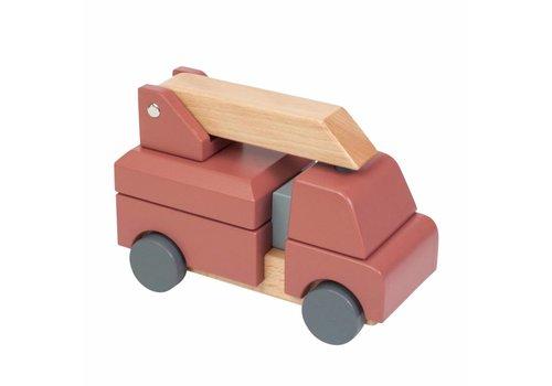 Sebra Sebra houten brandweerauto