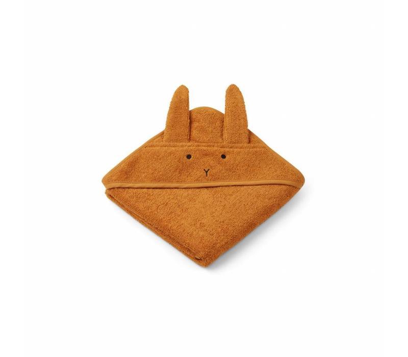 Liewood handdoek mustard konijn