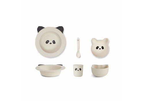 Liewood baby set Panda creme de la creme