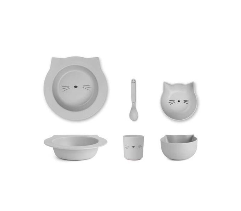 Liewood baby set Cat dumbo grey