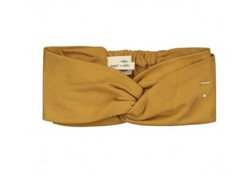 Gray label Gray Label twist haarband mustard 4-10