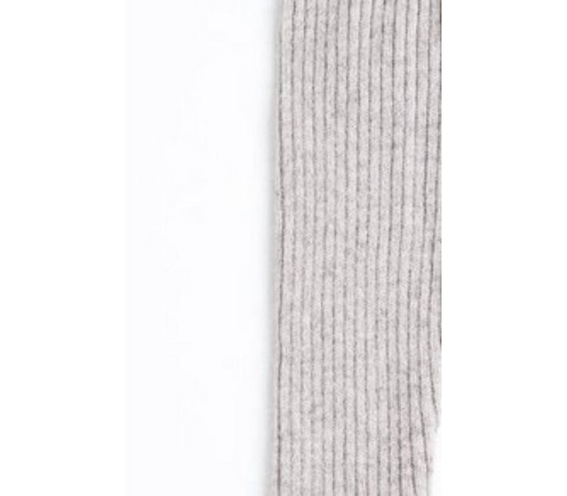 Tocoto vintage knitted flared grey