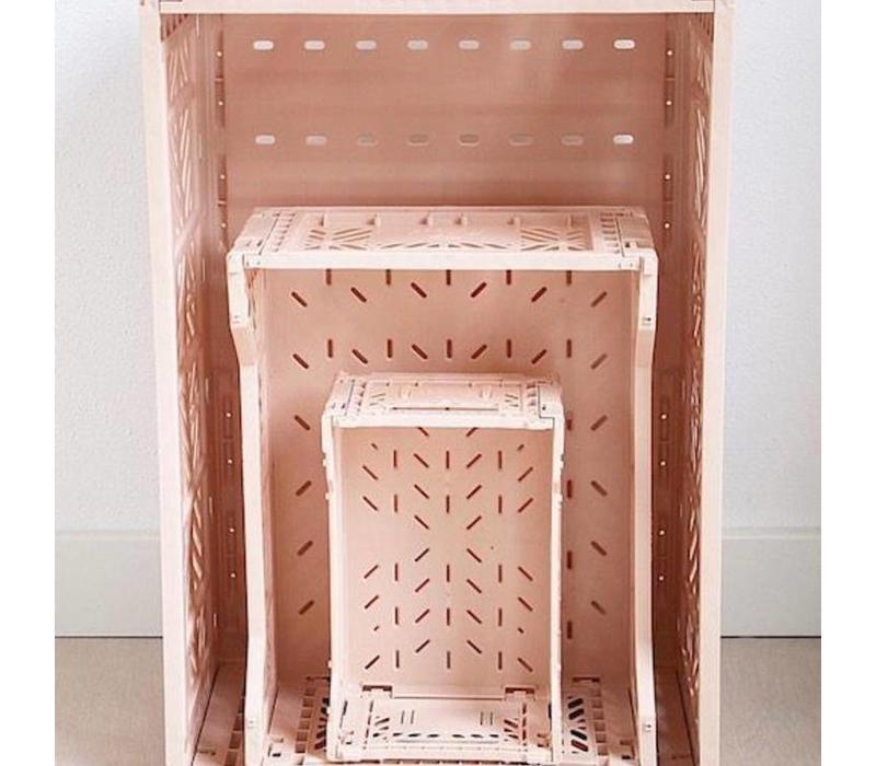 Ay-Kasa folding crate large warm taupe
