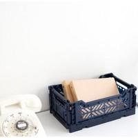 Ay-Kasa folding crate lime cream