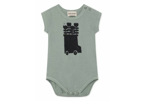 Bobo Choses Bobo Choses baby romper flowers bus