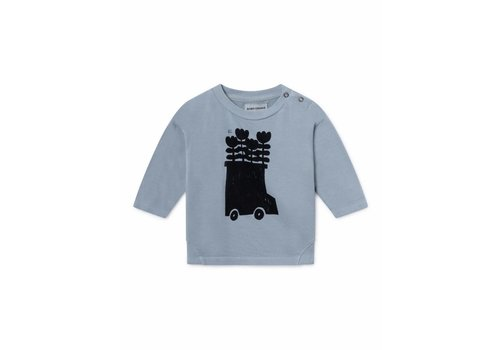 Bobo Choses Bobo Choses baby sweatshirt flowers bus