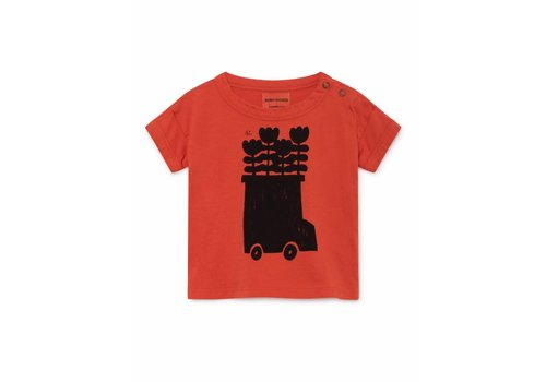 Bobo Choses Bobo Choses baby t-shirt flower bus red