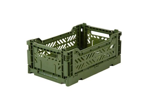 Ay-Kasa folding crate khaki mini
