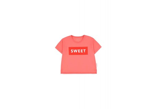 Tiny Cottons Tiny Cottons crop t-shirt sweet light red-red