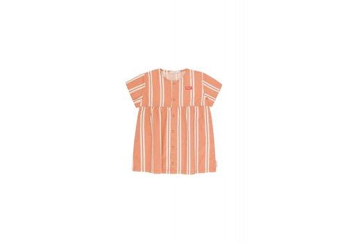 Tiny Cottons Tiny Cottons dress retro stripes terracotta-cream