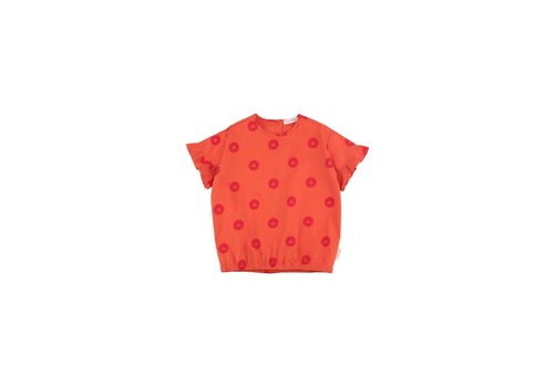 Tiny Cottons Tiny Cottons frills blouse 1st prize badge red